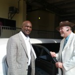 Evander Holyfield Using A-Awards Limousine